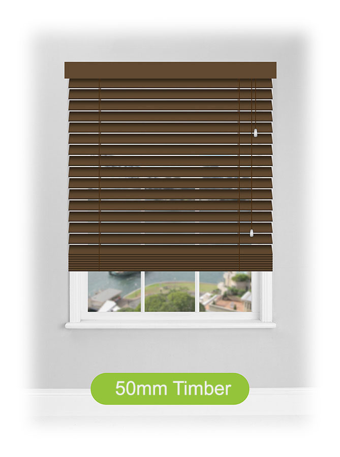 50mm Timber Venetian Blinds