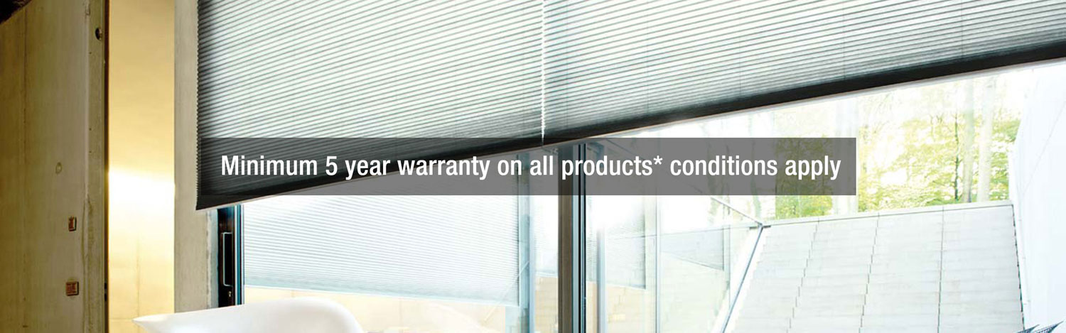 Minimum 5 year warranty on all products
